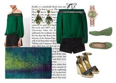 """""""Green n More Green"""" by zuzu00099 ❤ liked on Polyvore featuring Alice + Olivia, Rolex, Valentino, Ann Taylor, Hollister Co. and Braccialini"""