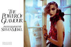 Vogue Italia • January 2011 • Photographer: Steven Meisel MUA: Pat McGrath Model: Arizona Muse • // #Editorial #HauteCouture