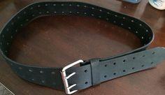Wide Black Leather Belt XXL Cosplay Steampunk LARP #BeltsSashes