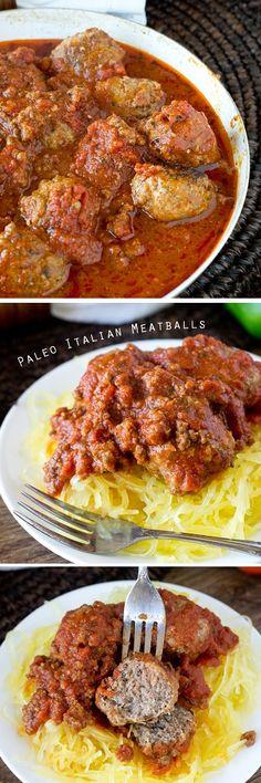 Paleo Italian Meatballs on MyRecipeMagic.com. Paleo Italian Meatballs are a mixture of ground beef and ground turkey with Italian seasonings, all smothered in a homemade marinara sauce. Made grain free, gluten free, dairy free and sugar free. Read more at http://myrecipemagic.com/recipe/recipedetail/paleo-italian-meatballs#387jMhoDJK3jrBIF.99