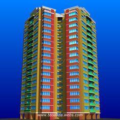 Triangle Tower apartment block design in AutoCAD Tower Apartment, Apartment Plans, Plan Design, Block Design, Cool Apartments, Prefab, Service Design, Facade, Skyscraper