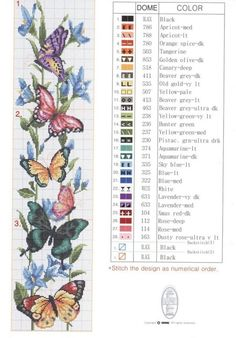 Cross Stitch Bookmarks, Cross Stitch Art, Cross Stitch Borders, Cross Stitch Animals, Cross Stitch Designs, Cross Stitching, Cross Stitch Embroidery, Cross Stitch Patterns, Butterfly Cross Stitch