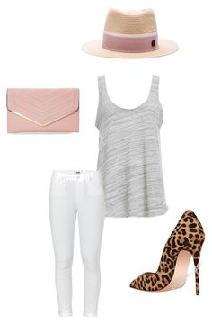 """""""Untitled #14"""" by michellelinares on Polyvore featuring Maison Michel, Project Social T, Paige Denim and Sasha"""