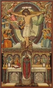 """Hoc est enim corpus meum . . .""  (""this is my body""-- the words of Jesus Christ)"