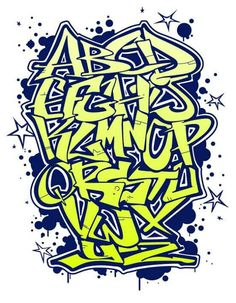 Graffiti font Grafitti Alphabet, Graffiti Alphabet Styles, Graffiti Lettering Alphabet, Graffiti Text, Graffiti Wall Art, Graffiti Tagging, Graffiti Drawing, Graffiti Styles, Street Art Graffiti