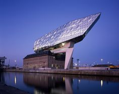 """Closer look: Zaha Hadid's new """"floating"""" Port House in Antwerp   Photo © Hufton + Crow   Archinect"""