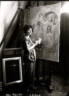 Irene Lagut in her studio, Paris, 1922
