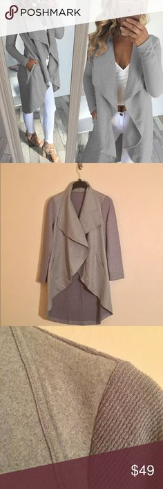 Heather Cardigan - Medium Grey Medium Grey- FYI IMPORTANT! SOFTER & EASIER CARE! HOORAY!   The manufacturer has changed the fabric per my request & its even softer ,as if that were possible, but also care is much easier! Simply hand wash in cold! The wrinkles should fall out naturally OR you may choose to dry clean! Me personally, I would dry clean as it has some weight to it.   The fabric now falls as it does in the pics & it is STUNNING!   Enjoy!   PS: You WILL want the olive! Auto 10%…