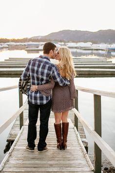 Big Bear Lake engagement photos #engagement #photos #dock