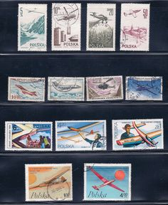 Airplanes  Vintage Stamps  1960 & 70s by BessiesVintage on Etsy, $4.99