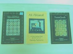 Quilt Patterns Lot of 3 patterns Hannily & Glad Creations Patterns