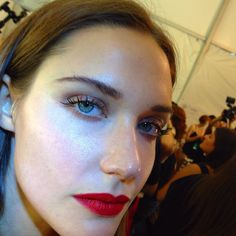 The look that I created for Carmen Marc Valvo #NYFW #S15 #CMV15 #maccosmetics @maccosmetics #RomeroJennings #fashion #makeup