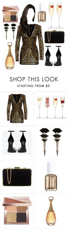 """""""Senza titolo #1131"""" by elizabeth-xsomosmasqueamorr ❤ liked on Polyvore featuring Balmain, LSA International, Yves Saint Laurent, Nak Armstrong, MICHAEL Michael Kors, Essie, Bobbi Brown Cosmetics and gold"""