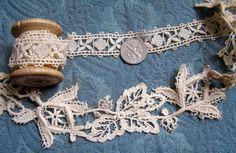 Antique French Lace Rare Unique Schiffli Lace by AntiqueDelights, $14.00