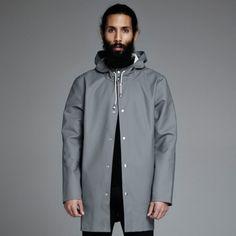 Stockholm Grå - Grey Raincoat – Stutterheim Raincoats hair beard tumblr