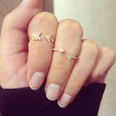 #bejewel your fingers with #stackable #midirings #arrows #diamonds #showmeyourrings