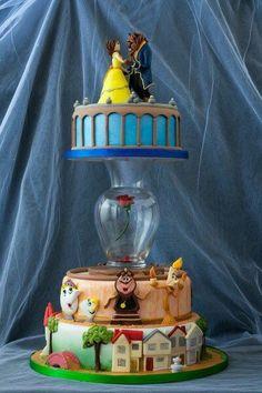 Beauty and the Beast Wedding Cake / Die Schöne und das Biest Hochzeitstorte