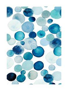 Bubbly - blue tonic Wall Art Prints by Kiana Mosley   Minted