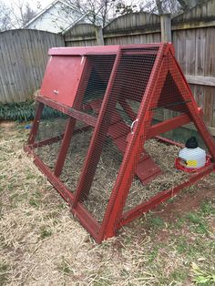 Building A Chicken Coop - - Building a chicken coop does not have to be tricky nor does it have to set you back a ton of scratch. A Frame chicken coop! A Frame Chicken Coop, Small Chicken Coops, Portable Chicken Coop, Chicken Pen, Best Chicken Coop, Chicken Coop Designs, Backyard Chicken Coops, Chicken Coop Plans, Building A Chicken Coop