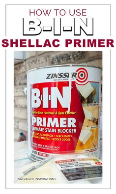 How to Use B-I-N Shellac Primer – Here's how I apply BIN Shellac Primer to stop nasty bleed through, stains, knots and odor on my painted furniture makeovers. White Painted Furniture, Paint Furniture, Furniture Makeover, Furniture Refinishing, Dresser Furniture, Furniture Projects, Garden Furniture, Furniture Decor, Furniture Design