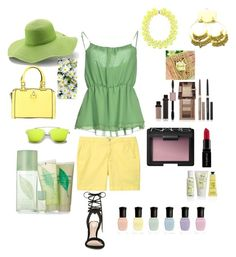 """Lemon Lime For Less $!"" by teresalcaine on Polyvore featuring Violeta by Mango, Imperial, Peter Grimm, ALDO, Kate Spade, Crabtree & Evelyn, Physicians Formula, Elizabeth Arden, Deborah Lippmann and Smashbox"