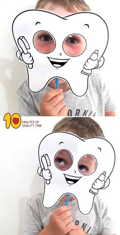Tooth Mask Printable Health Adults Health For Kids Health Kindergarten Care Clean Teeth Care Display Care Routine Dental Health, Oral Health, Health Activities, Activities For Kids, Space Activities, Tooth Template, Dental Office Decor, Dental Kids, First Tooth