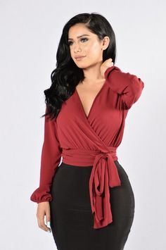 Little White Lies Top - Burgundy – Fashion Nova Rompers Women, Jumpsuits For Women, Curves Clothing, Boho Clothing, Swimsuits For Curves, Curve Dresses, Long Blouse, Boho Outfits, Women Lingerie
