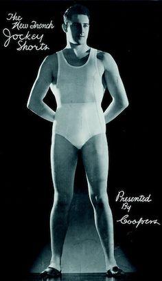 1940s jockey shorts advertisement vintage mens briefs underwear black and white photo by Christian Montone, via Flickr