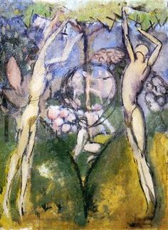 Young Girl and Man in Spring - Marcel Duchamp