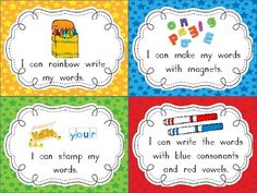 Word Work Task Cards & Recording Sheets - 44 task cards/activities to use with any set of spelling words/sight words. Easy word work station for daily Kindergarten Centers, Kindergarten Reading, Teaching Reading, Guided Reading, Teaching Ideas, Kindergarten Classroom, Kindergarten Freebies, Reading Lessons, Writing Lessons