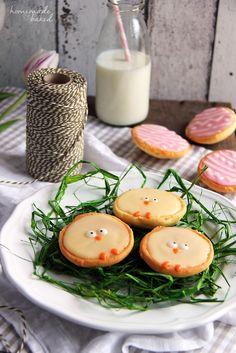 Klassisches Amerikaner-Rezept mit Osterverzierung: Amerikaner-Küken und -Ostereier :-)