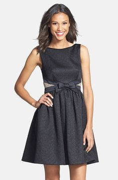 Love this whole collection, but this may be my fave / ERIN Erin Fetherston, Bow Detail Jacquard Fit & Flare Dress, $325.00, available at Nordstrom