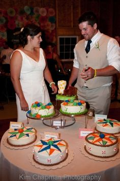 """The Cake: Megan made the chairs from the movie """"Up"""" and Leslie Rudd incorporated that with nautical theme"""