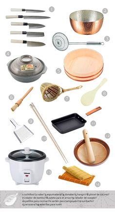 utensilios básicos en la cocina japonesa