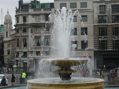 Trafalgar square One of the fountains in the square, as if we needed more water!