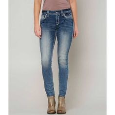 Rock Revival Olinda Easy Skinny Stretch Jean - Blue 25/29 ($164) ❤ liked on Polyvore featuring jeans, blue, stretchy jeans, super stretch skinny jeans, zipper skinny jeans, rock revival skinny jeans and rock revival jeans