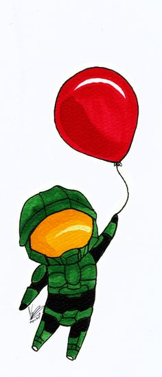 Chibi Master Chief: The red ballon.