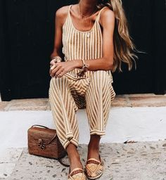 Cute vacation jumpsuit.