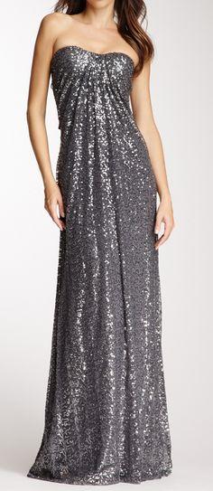Grey glitter gown
