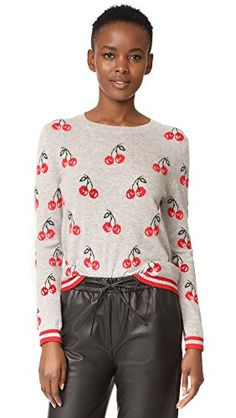 Chinti and Parker Women's All Over Cherry Sweater