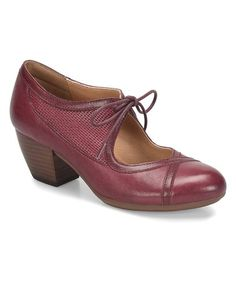 Can you rock a Cranberry Sofft Almyra Leather Pump? Yes, ma'am. #zulily #zulilyfinds
