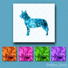 #Australian cattle dog - #vinyl decal sticker - multiple flames & sizes - #ebn191,  View more on the LINK: http://www.zeppy.io/product/gb/2/272079858078/