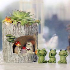 Cute Hedgehog Flower Sedum Succulent Pot Planter Bonsai Trough Box Plant Bed Desk Home Decorations Creative Birthday Gifts-in Flower Pots & Planters from Home & Garden on Aliexpress.com   Alibaba Group
