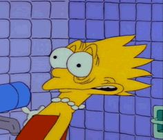 Animated gif about gif in lisa simpson by doctorsauce Cartoon Icons, Cartoon Memes, Funny Memes, Hilarious, Cartoons, Lisa Simpson, Homer Simpson, Simpsons Simpsons, Simpson Wallpaper Iphone
