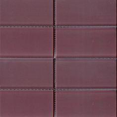 Glass subway tile 3x6 Thistle purple tile perfect for any tile backsplash ideas