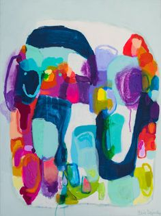 Claire Desjardins 2015 Once Upon A Wish #colorful #abstract #art