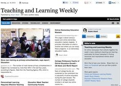 July 16 - Teaching and Learning Weekly is out:  An online newspaper that collects together the week's news relating to teaching and learning - particularly for those interested in finding resources and inspirational stories about education.    Read and subscribe free of charge at:  http://paper.li/f-1328546324