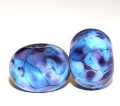 Etsy listing at https://www.etsy.com/listing/57895201/lunar-pond-round-lampwork-bead-pair