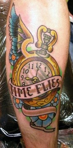 Time Flies - MyTatts | All your Tattoos in one place