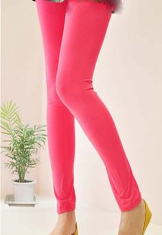 Solid Color Strong Elasticity Women's Legging on BuyTrends.com, only price $7.00